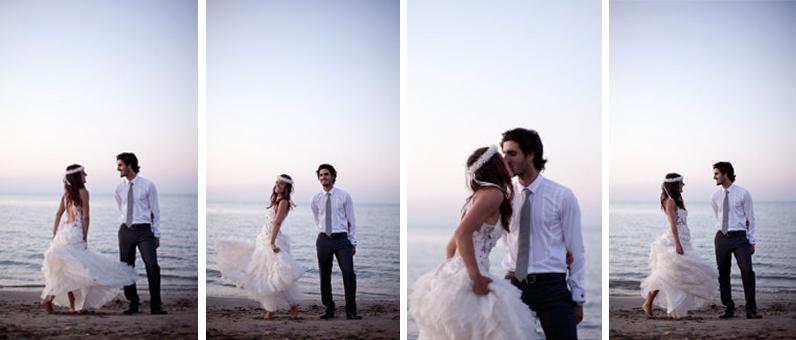 Hoy os queremos enseñar una boda celebrada en Dénia, en la provincia de Alicante. Se trata de una ceremonia marcada por el color azul turquesa, el preferido