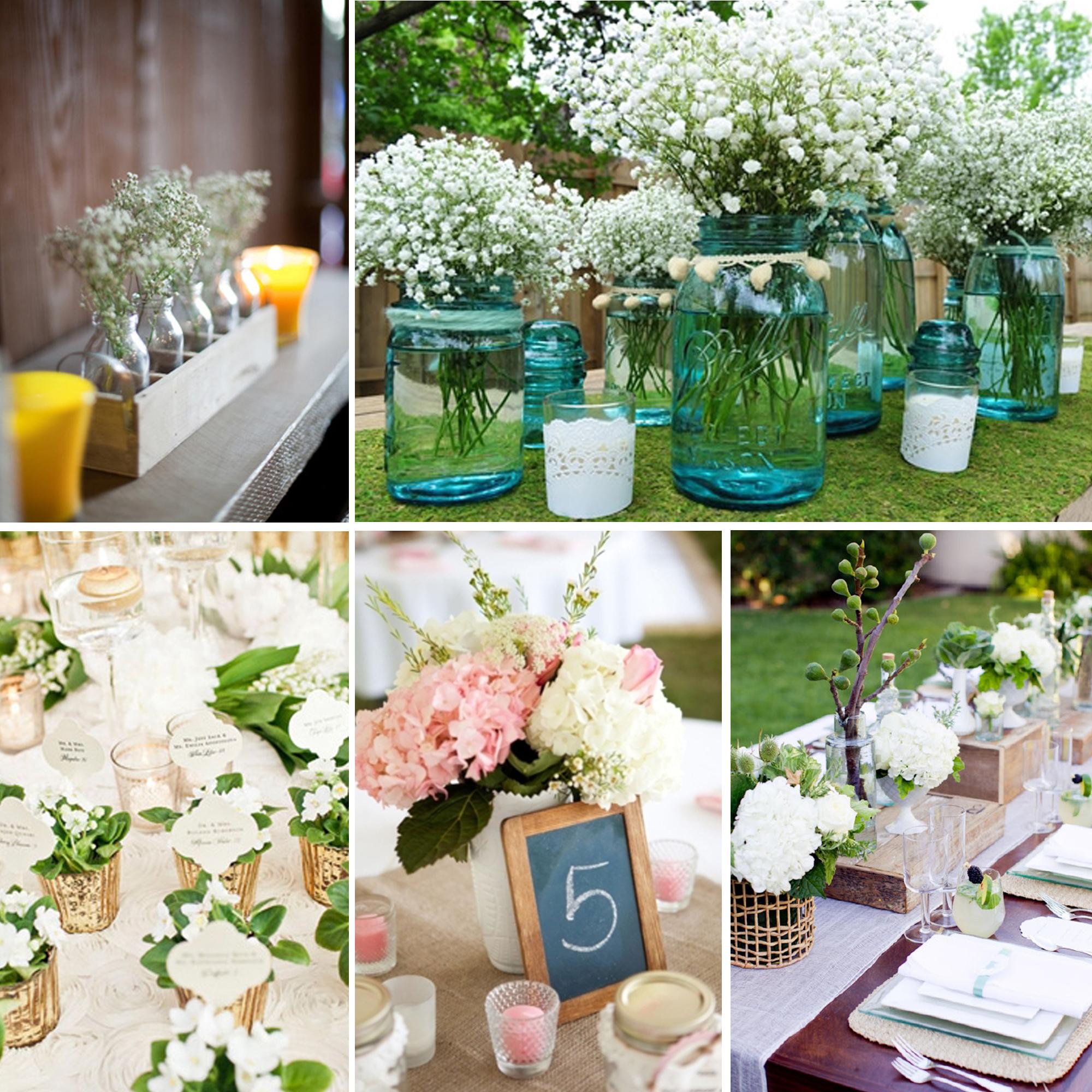 Centros de mesa mon wedding for Decoracion boda campestre