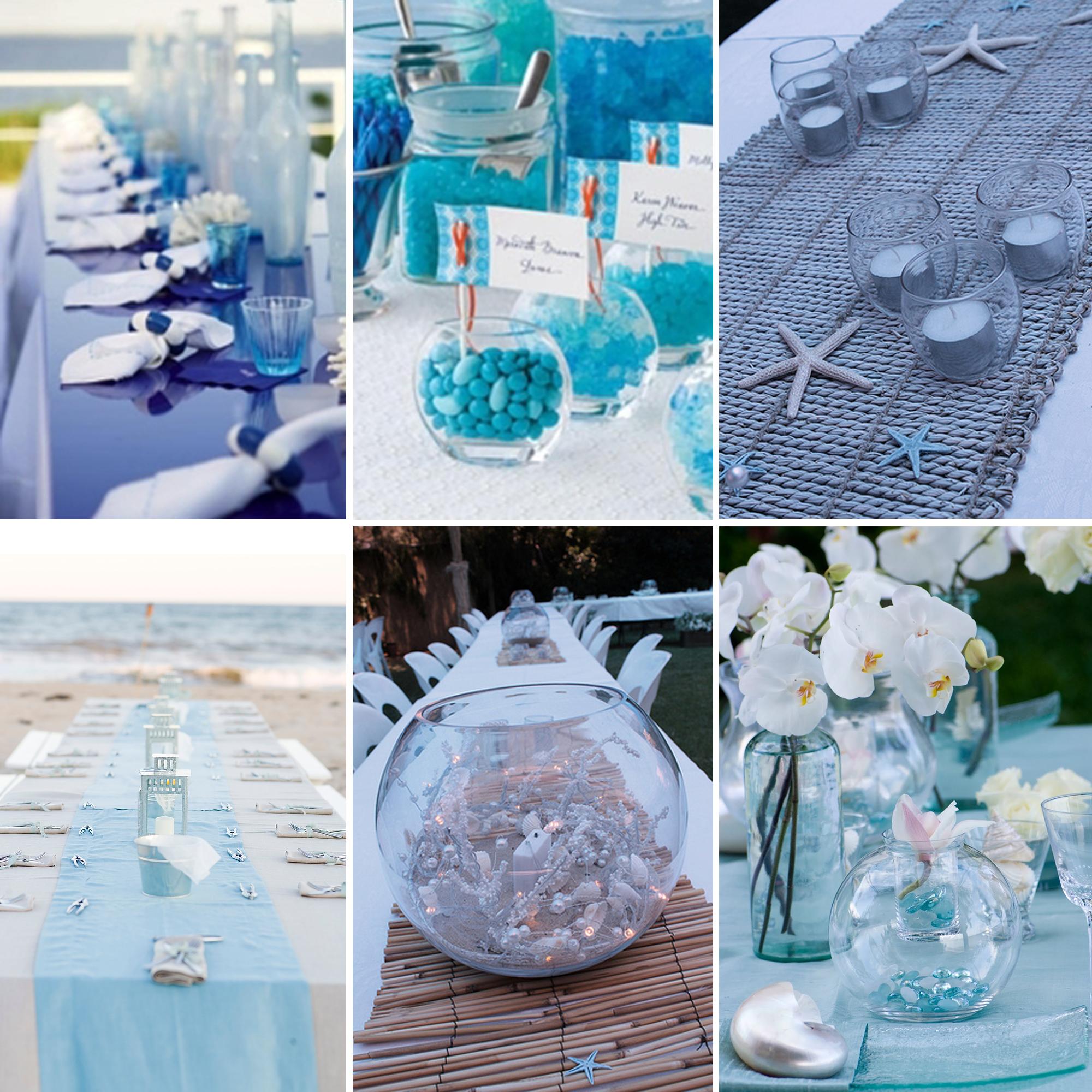 Centros de mesa mon wedding - Decoracion boda playa ...
