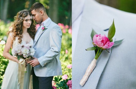 romantic-garden-wedding-bride-wears-lace-wedding-dress-floral-crown-poses-with-groom.full